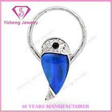 925 Sterling Silver Natural Blue Fire Opal Ring, Diamond Engagement Ring