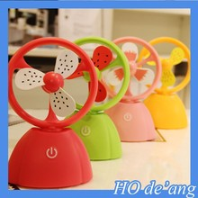 HOGIFT plastic mini table fan USB electric cartoon fruit figure fan for summer use