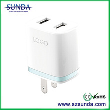 Mobile Phone Universal Travel Charger Adapter With Dual Usb Wall Charger