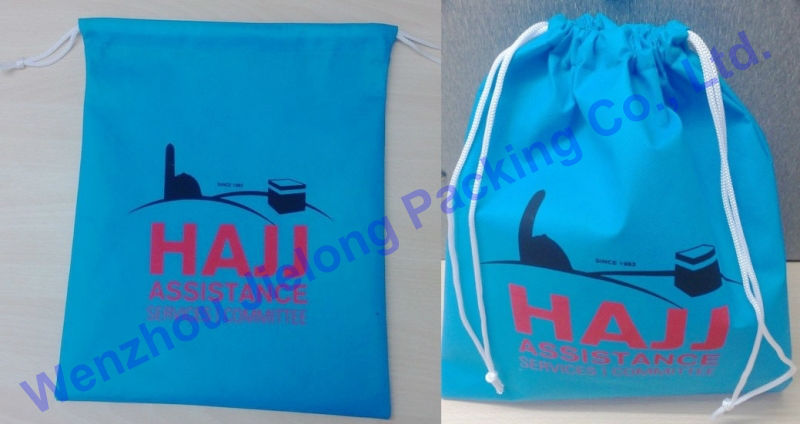 various colors cheap custom drawstring bag