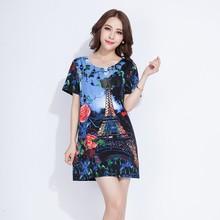 2015 fashion design color combination women t-shirt