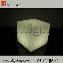 Cheap LEDs inside waterproof cube chair mood light for bar