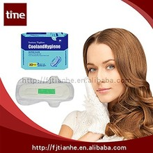 2015 Best Quality And Breathable Cotton Lady Pads Female Ainon Sanitary Napkin