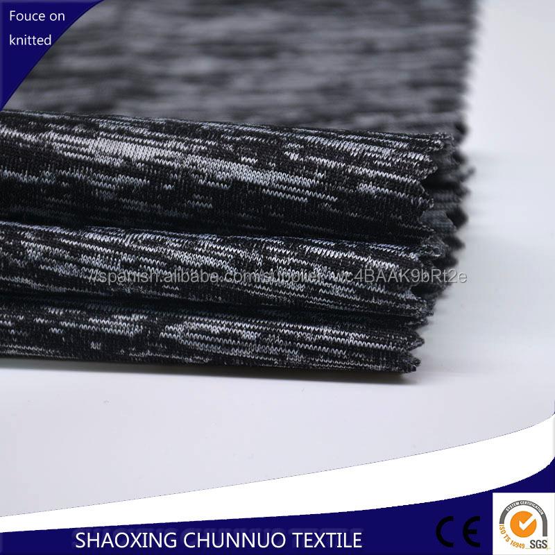 Chunnuo Textil Spandex Poliéster Catiónico Stretch Tubo De Tejido De Punto
