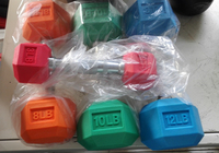 Colorful Rubber Hex Dumbbell