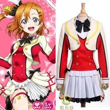 New arrival hot game love live Koizumi Hanayo Cosplay costume free shipping cost