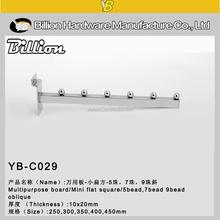 YB-C029 chrome slatwall tube display hooks/clothing hooks/ coat display hooks