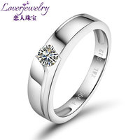 0.20ctw G-VS Ideal Round Cert Couple Diamond Wedding Ring Platinum Wholesale WU141