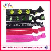 Moda de tela suave elásticos broche para el cabello anudado tie
