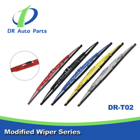 Color Windshield Silicone Wiper Blade, Color Windshield Wiper arms, Colored Windshield Wiper