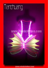 Hot sale lights led dance costumes,illuminated dresses wing.customize led light wings