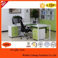 2015 new design one seat wooden modern executive desk office table design / computer desk