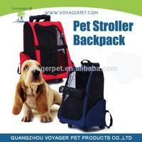 Wheel Dog and cat Travel Carrier Stroller Backpack Airline Bag Carrier Handle