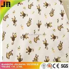 100% cotton Disperse lovely monkey Printed Fabric Twill For Making Bed Sheet