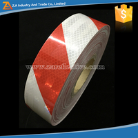 High Light Miro Prismatic Red and White Adhesive Reflective safety Striped Tape