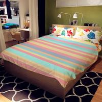 Cheap print blanket Simple horizontal stripes style comfort printing super soft blanket MT1000