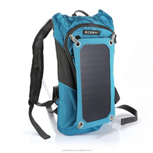 2015 solar charger backpack bag solar charger panel for apple iphone ipad solar charger bag for camping travelling