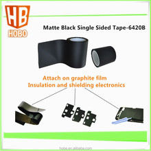 0.02mm Matte Black Single Sided Adhesive Acrylic Tape For Attach On Graphite Film