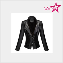 OEM Service Leather Jacket Wholesale for women 2015