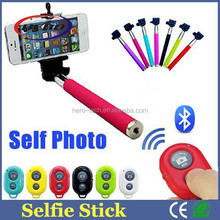Mobile Bluetooth Selfie Stick Extendable Hand Monopod / Selfie Stick With Bluetooth Shutter Button
