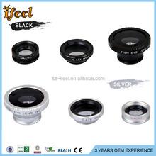 2016 Universal Clip Optical Glass 0.67x 4 In 1 Fish Eye Lens,180 Degree Fisheye Mobile Phone Camera Lens For All Phones