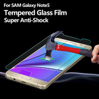 9H crystal clear tempered glass screen protector for Samsung Galaxy Note 5 screen protector cell phone