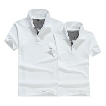 100% Cotton Blank White Color Polo T-shirt, Custom OEM T-shirt Made In China
