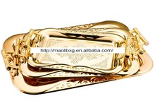 Wholesale Golden Metal Serving Tray
