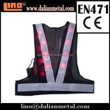 Road and Working EN471 Flashing LED Safety Vest