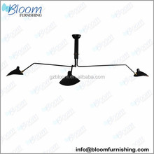 Hot sale Serge Mouille three arm ceiling lamp, industrial led ceiling lamp, industrial lamps of ceiling