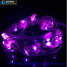 Europe indoor decoration market best selling and meaningful heart light with 2AA battery case