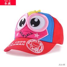 venta al por mayor de dibujos animados 3 d bordado de niños de corta pico rojo gorra de béisbol
