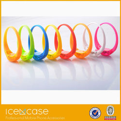 Led silicon bracelet for parties, remote controlled led bracelet led flashing bracelet