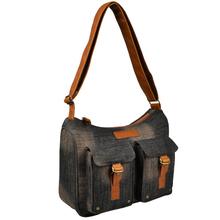 Fashion durable denim designer ladies sling bag