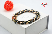 tri-colors chain imitation jewellery one gram gold jewelry