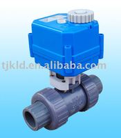 KLD100 small 2-way actuator Ball Valve(plastic) for automatic control, water treatment