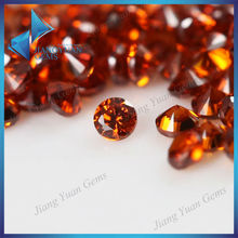 de alta calidad aaa naranja rd sintética de piedra pulida sueltas cz