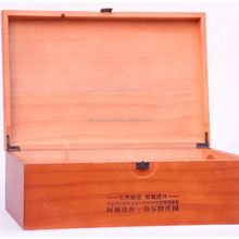 Wooden wine boxes, Double wine box, pine on the paint Pine double wine box