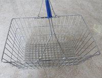 Supermarket Chrome RH-BMH28 Wire Metallic Shopping Basket