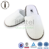 Cotton Fabric Warm Men Fancy Bedroom Custom Hotel Slippers