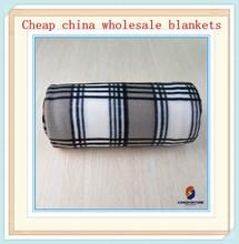 dark color Scottish tartan plaid pa fabric polar fleece blanket