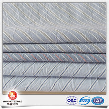 navy blue and white stripe crepe fabric characteristics for making women fashion clothes