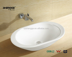 Factory directly popular ceramic voval shaped kitchen sink