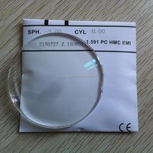 1.591 hc hmc eni Single vision polycarbonate pc lens