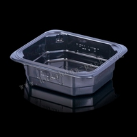 Black take away container plastic food box, disposable food container microwave safe