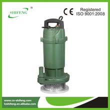 QDX series 1.5hp domestic centrifugal submersible pump/plastic roller bearings