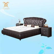 modern high taste .italian leather bed
