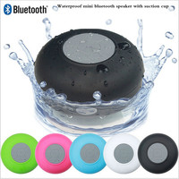 Top quality cheap price Subwoofer waterproof bluetooth speaker for iphone 6S with Suction Cup for Shower Bathroom swimming Pool