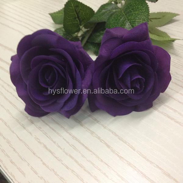 Newest natural touch small dark purple latex rose handmade fabric newest natural touch small dark purple latex rose handmade fabric flowers wholesale mightylinksfo