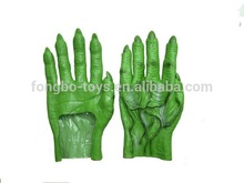 verde guantes de halloween disfraz de halloween guantes de plástico
